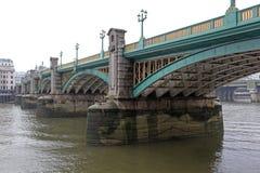Southwark Bridge London. Southwark Bridge Over Thames River in London stock photography