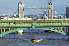 Southwark bridge and a Tower bridge , London Royalty Free Stock Photo