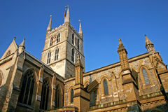 Southwark cathedral. Looking up at tower of Southwark cathedral, London Stock Photos