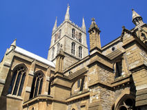 Southwark Cathedral. Believed to have been built around 666AD and largely rebuilt in a Norman Gothic style after a fire in 1206AD and has a memorial to William Stock Images
