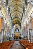 Southwark Cathedral interior, London, UK stock photography
