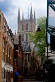 Southwark Cathedral, London, England, UK. The Southwark Cathedral in London, England, Great Britain royalty free stock photography