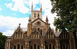 Southwark Cathedral, London, United Kingdom. Southwark Cathedral, London. A place of Christian worship for more than 1,000 years royalty free stock photo