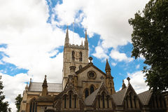 Southwark Cathedral, London, United Kingdom. Southwark Cathedral, London. A place of Christian worship for more than 1,000 years stock photography