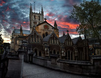 Southwark Cathedral. During sunset in London, UK Royalty Free Stock Photography