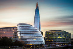Southwark in London. A view from Tower Bridge onto the Southwark area in London royalty free stock photos