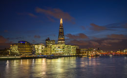 Southwark skyline from across the River Thames Royalty Free Stock Image
