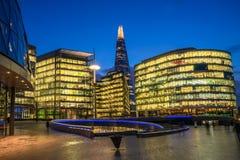 Southwark skyline across the River Thames Stock Photography