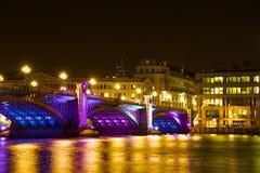 Southwarkbrug bij Kerstmis, Londen Stock Fotografie