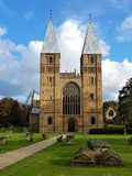 Southwell Cathedral situated in the village of Southwell Nottinghamshire. Southwell cathedral in the middle of Southwell Nottinghamshire ancient Village stock photos