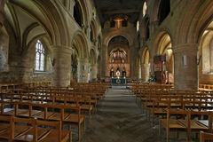 Southwell Minster Nave Royalty Free Stock Images