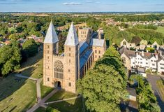 Southwell Mister and Romanesque Cathedral royalty free stock photo