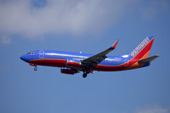 Southwest airline passenger jet Boeing 737 Stock Photos