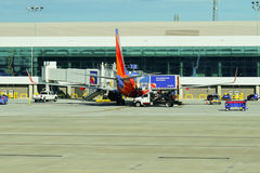 Southwest Airlines royaltyfria bilder