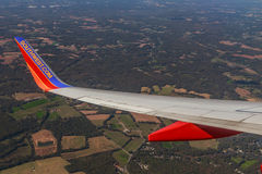 Southwest Airlines Airliner Wing. Royalty Free Stock Photography
