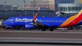 Southwest Airlines all'aeroporto internazionale di Las Vegas - U.S.A. 2017 stock footage