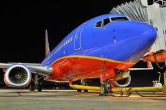Southwest Airlines bij de poort royalty-vrije stock foto