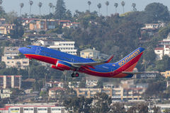 Southwest Airlines Boeing 737-7H4 N908WN departing San Diego International Airport. Royalty Free Stock Photo