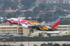 Southwest Airlines Boeing 737-7H4 N918WN known as `Maryland One` departing San Diego International Airport. Stock Photography