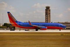 Southwest Airlines Boeing 737 som åker taxi Royaltyfria Foton