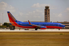 Southwest Airlines Boeing 737 taxiing Royalty Free Stock Photos