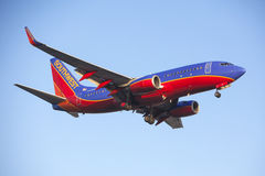 Southwest Airlines 737 Commerciële Jet Airplane Stock Afbeelding