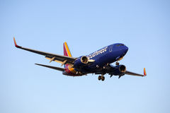 Southwest Airlines 737 Commercial Jet Airplane Royalty Free Stock Photo