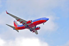 Southwest Airlines Commercial Jet Royalty Free Stock Photo