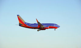 Southwest Airlines Commercial Jet Royalty Free Stock Images