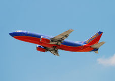 Southwest Airlines jet airplane Royalty Free Stock Image
