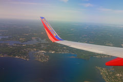Southwest Airlines Jet Wingtip Stock Photo