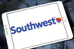 Southwest Airlines logo royaltyfri foto