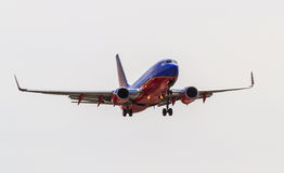 Southwest Airlines Plane on Final Approach Stock Image