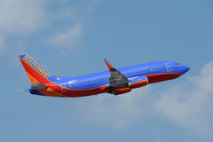 Southwest Airlines plane taking off Stock Images