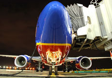 Southwest Airlines plane at th Royalty Free Stock Photo