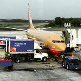Southwest Airlines Re-supplying Stock Images