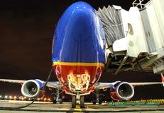 Southwest- Airlinesflugzeug am Th Lizenzfreies Stockfoto