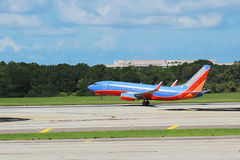 Southwest Airplane At Take Off Stock Photos