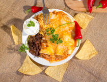 Southwest beef enchilada. Stock Photo