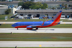 Southwest Boeing 737 Royalty Free Stock Photos