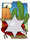 Southwest bookplate. Bookplate with a southwest theme royalty free illustration