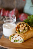 Southwest Chicken Wrap Royalty Free Stock Photography
