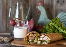 Southwest Chicken Wrap Royalty Free Stock Photos
