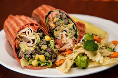 Southwest Chicken Wrap Royalty Free Stock Photo