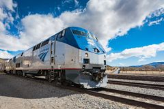 Southwest Chief Train. Raton, New Mexico / USA / April 1, 2016: The Southwest Chief is a higher speed passenger train operated by Amtrak on a 2265-mile route stock photo