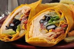Southwest Chipotle Chicken Wrap Stock Photo