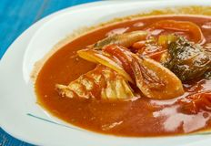 Southwest Cilantro Fish Stew. Classic Mexican ingredients Stock Image