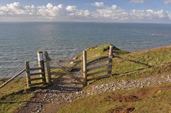Southwest Coast Path at Baggy Point Royalty Free Stock Photos