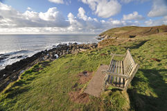 Southwest Coast Path view to Baggy Point Stock Photo