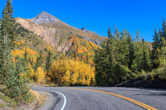Southwest Colorado Highway in Fall Royalty Free Stock Photography